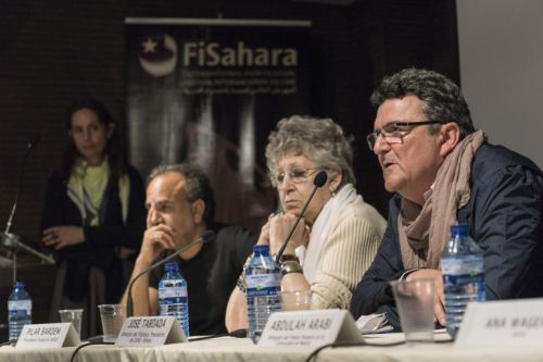 DE IZQUIERDA A DERECHA: JAVIER CORCUERA, CODIRECTOR DEL FESTIVAL, LA ACTRIZ PILAR BARDEM Y JOSÉ TABOADA, PRESIDENTE DE CEAS-SÁHARA // CARLOS CAZURRO/FISAHARA