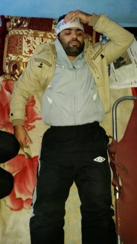 Saaid Ayachi, joven en desempleado en huelga de hambre que ha sido trasladado hoy al hospital
