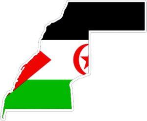 mapa bandera rasd
