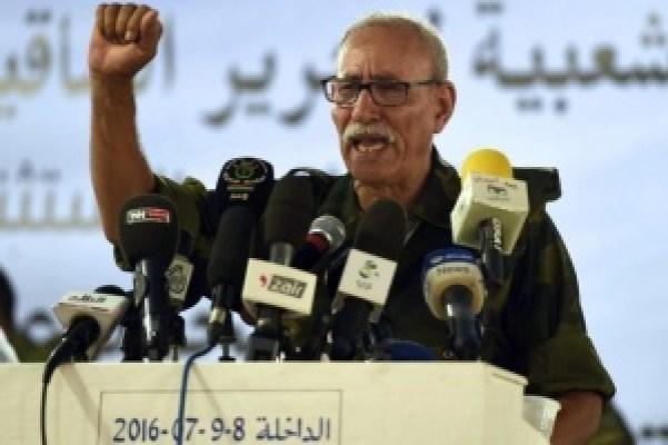 Brahim Ghali, en su discurso inaugural como presidente de la República Árabe Saharaui Democrática en julio el año 2016