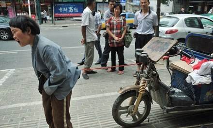 Chinese girl, 13, tied to a moped as her family cannot afford medical treatment for her epilepsy