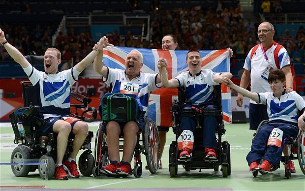 Britain's Boccia Team Bronze Medallists