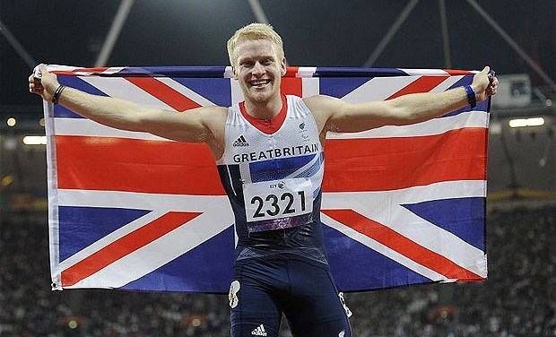 ParalympicsGB – Heartening text touches Jonnie Peacock