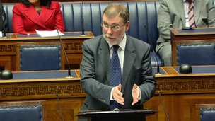 Nelson McCausland in welfare reform statement at Stormont