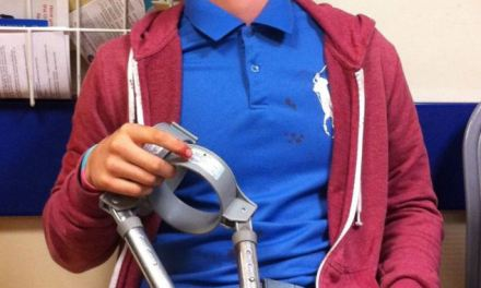 Teenage boy viciously attacked with his own crutches
