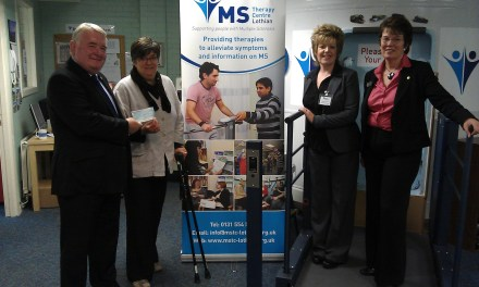 Rotarians raise £1500 for the MS Therapy Centre