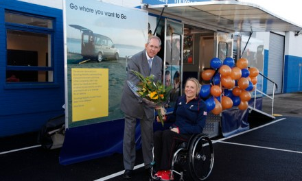 Paralympian Opens Gowrings Mobility's New Factory