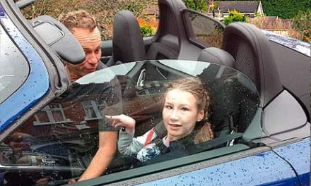 Who better to test drive the new Porsche Boxster than a 13-year-old with a passion for roller coasters?