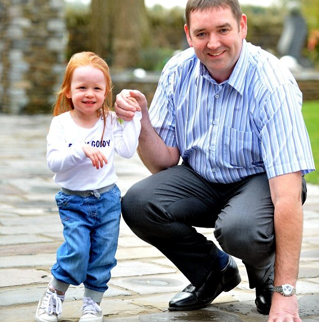 That's a lot of 'loose change'! Fundraisers collecting for cerebral palsy girl, 3, left stunned when businessman drops £21,000 cheque into their bucket