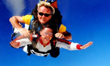 Skydiving, bungee jumping and wing-walking: Daredevil grandmother refuses to let Parkinson's disease stop her