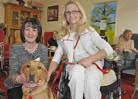 Disability dog named after departing care home manager