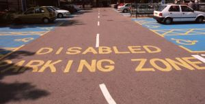disabled spaces @ Sainsbury's East Dulwich