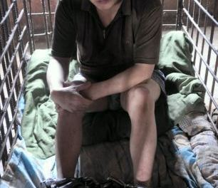The mentally ill killer forced to live locked in a cage for 11 years by his own mother over fears he will strike again in China