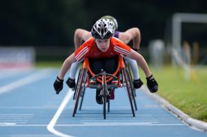 Copyright Mark Lomas. Wheelchair track