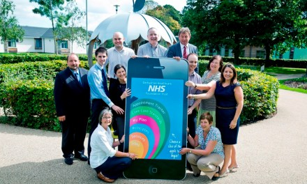 Giant iPhone helps NHS Trust break new ground with 'patient feedback app'