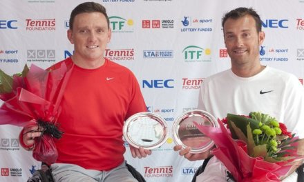 Jamie Burdekin wins doubles