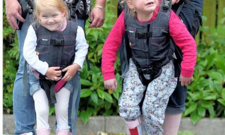Spina bifida tot gets chance to walk with special harness