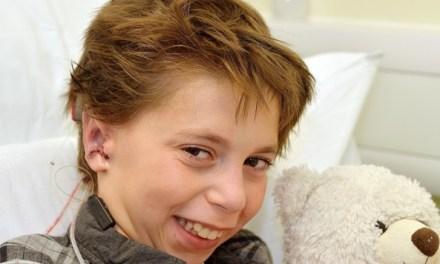 Kieran, 9, loves his 'big ears'