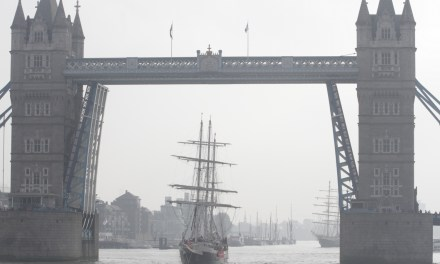 JST's Lord Nelson docks in London after two years