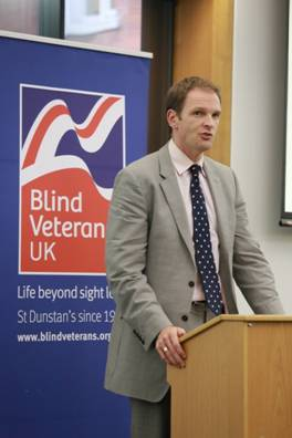 Dr Dan Poulter MP joins forces with national military charity to help vision impaired veterans