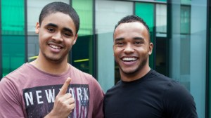 Connor-Rodney-with-Lewis-Hamilton-at-the-Ideas-Store-Whitechapel-GIMPED