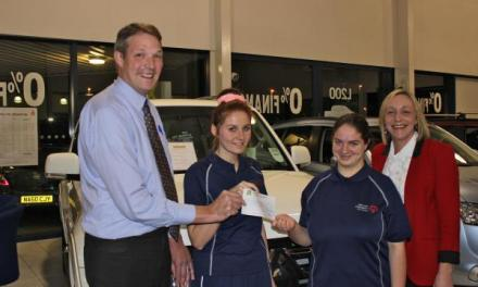 Teen gymnasts with learning difficulties given £2,770 by Crewe car dealer