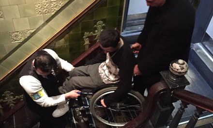 Wheelchair user carried out of bar by bouncers who said he could only stay if he stood up