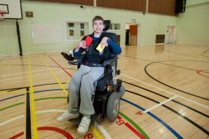 PAY-Nathan-Mattick-in-wheelchair-19-from-Kingston-upon-Thames-referees-a-football-game