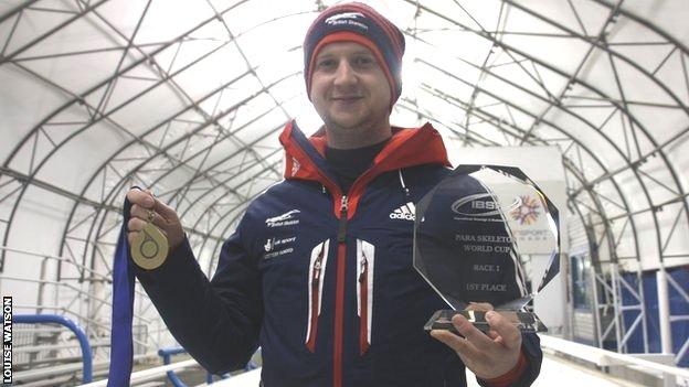 Matt Richardson wins silver in Para-skeleton World Cup