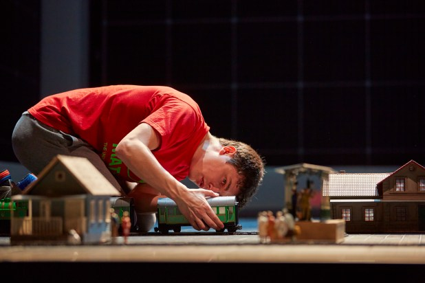 Joshua Jenkins (Christopher) in The Curious Incident of the Dog in the Night-Time UK Tour. Photo by BrinkhoffMögenberg