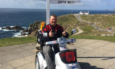 Disabled Ex-army Corporal Smashes 1,000-mile World Record On TGA Mobility Scooter