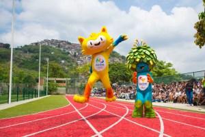 The Rio 2016 Mascots were presented to public school students, in Santa Teresa, Rio de Janeiro