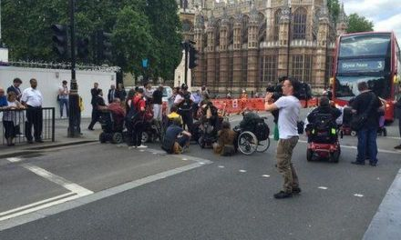 Police and Protestors clash at Common's cuts demonstration