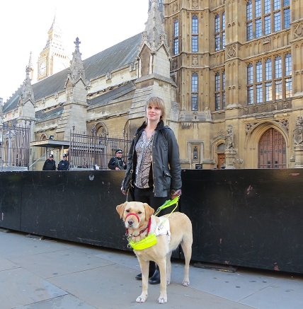 Young blind and partially sighted campaigners meet with MPs during Parliament visit