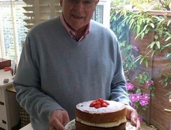 Blind veteran baking festive treats