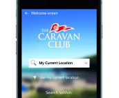 The Caravan Club's brand new UK site app