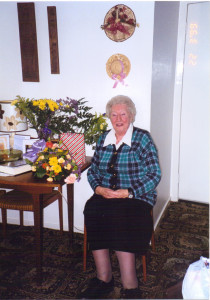 Susie on her 80th birthday