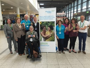 Staff and volunteers promote the new lanyard