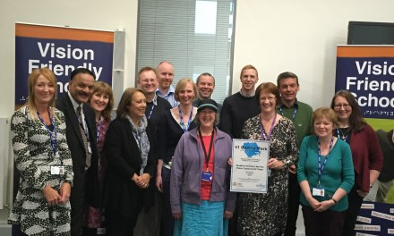 Quality mark awarded to Council's visual impairment team