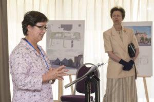 Saki Hartas giving a presentation