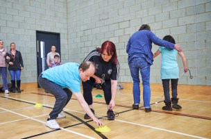 Sporting sessions for people with sensory impairments