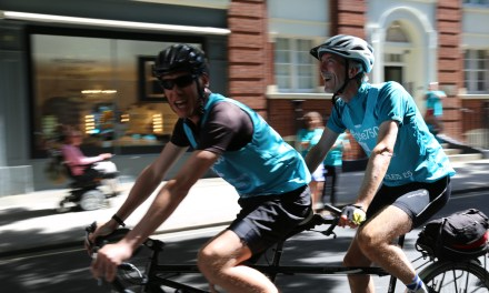 Blind man arrives in London following 750 mile cycle challenge in aid of RNIB