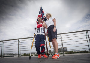 Para-equestrian rider Lee Pearson, who will be the flag bearer for the ParalympicsGB team at the Opening Ceremony of the 2016 Rio Paralympic Games with Chef de Mission, Penny Briscoe. Credit: onEdition