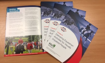 British Blind Sport and RDA launch guide to visually impaired equestrian sport