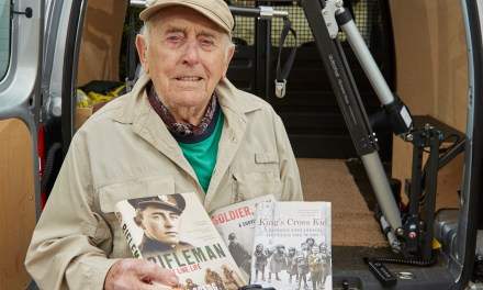 Autochair brings renewed freedom to WW2 rifleman and author