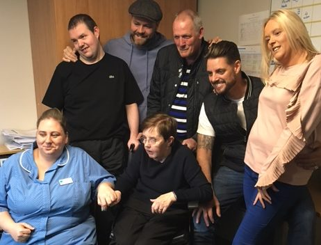 Boyzlife make care home resident's dreams come true