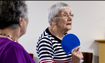 Ping Pong Playing Pensioners Bat for Table Tennis Success