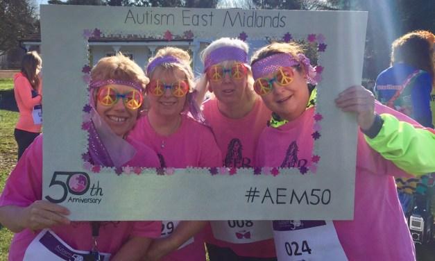 Autism East Midlands begin anniversary celebration with Retro Run
