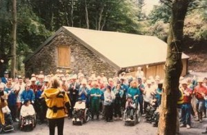 Anneka Rice at the accessible boathouse 25 years ago.