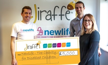 Newlife enjoy a happy New Year thanks to Jiraffe's fundraising success
